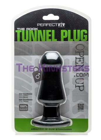 The Rook Tunnel Plug Black