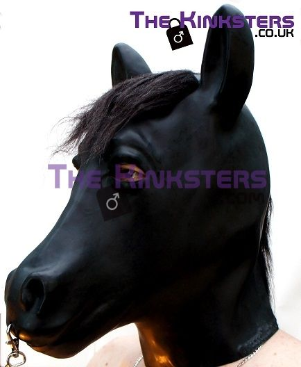 Moulded Rubber Horse Hood With Mane