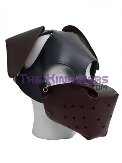 Floppy Ears Dog Hood Brown
