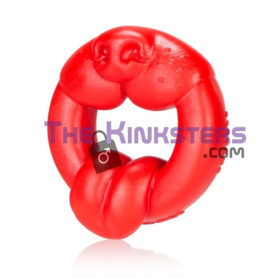 Scrappy Silicone Puppy Cock Ring Red