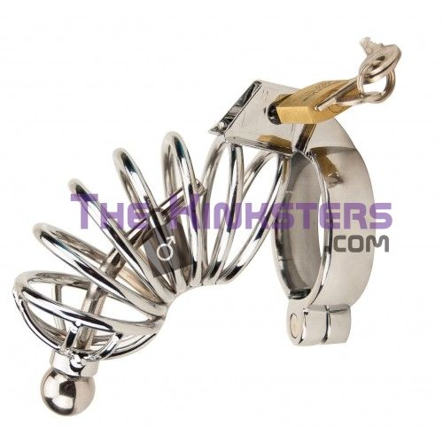 Impound Corkscrew Male Chastity Device with Penis Plug