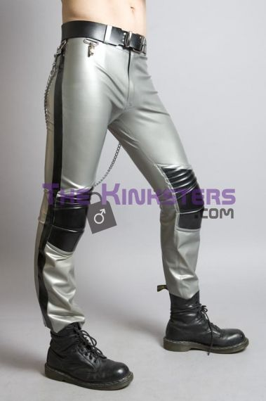 Mens Alloy Padded Rubber Moto Pants