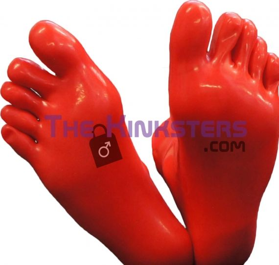 Red Rubber Toe Socks (Large)