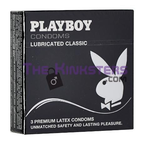 Playboy Lubricanted Classic Condoms 3 Pack