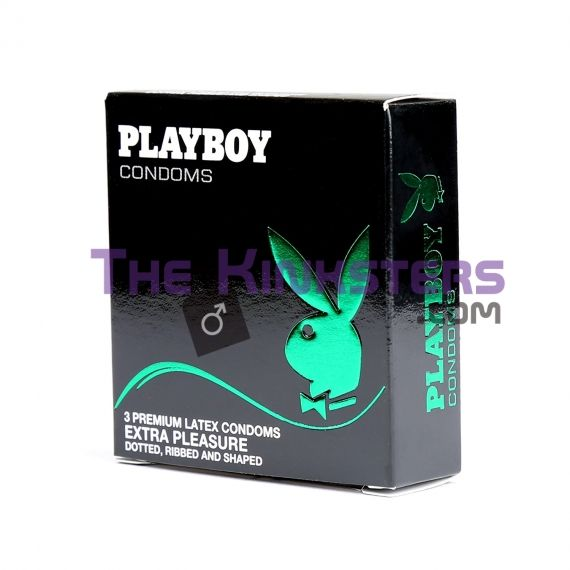 Playboy Lubricanted Extra Pleasure Condoms 3 Pack