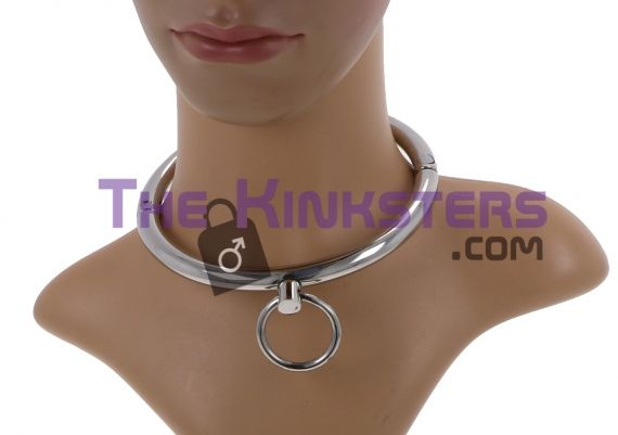 Stainless Steel Slave Collar with O-Ring (Medium)