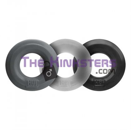 Hunkyjunk Huj C-Ring 3 pack (Stone, Ice & Black Tar)