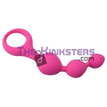 Triple Ripple Anal Beads Pink