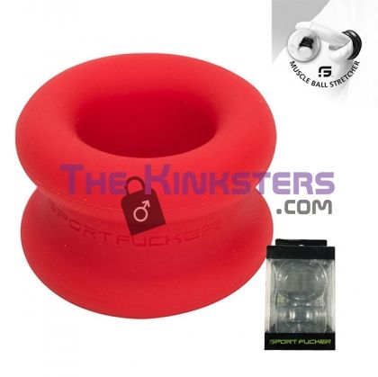 Muscle Ball Stretcher Red