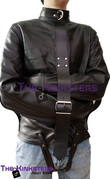 Leather Strait Jacket in Black or White