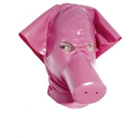 Latex Piggy Hood