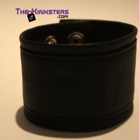 Leather Wrist Band Black
