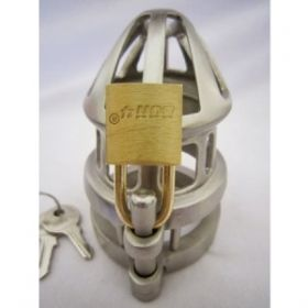 BON4M Stainless Steel Chastity Device Regular & Small