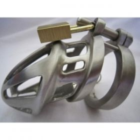 BON4M Stainless Steel Chastity Device Small