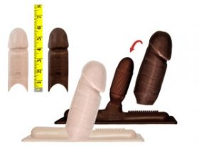 Chocolate XLarge RealLike 'Cover' - Sybian Attachment
