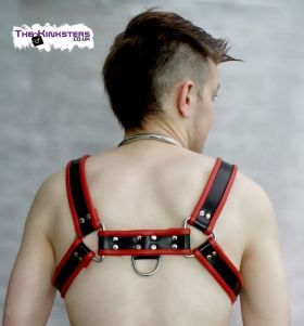 Leather Chest H-Harness Black