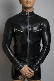 Mens Rubber Bondage Shirt (Long Sleeves)