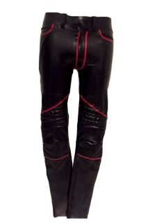 Mens Rage Padded Rubber Moto Pants