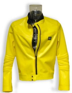 Mens Rubber Moto Jacket