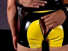 Rubber Saddle Shorts