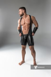 Maskulo Padded Singlet with Codpiece & Open Rear
