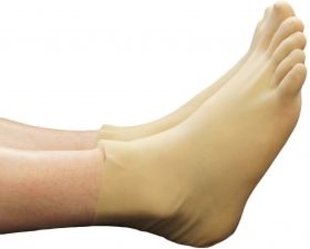 Semi-Transparent Rubber Toe Socks