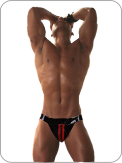 Rubber Ü Rubber Jock - Red, Small
