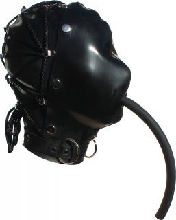 Latex Strap Back Hood
