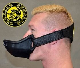 Oxballs Strap on Piss Gag Black & Yellow