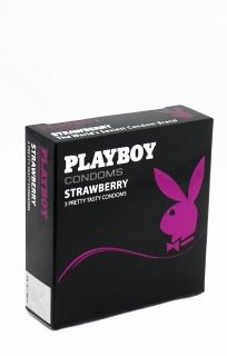 Playboy Lubricanted Strawberry Flavoured Condoms 6 Pack