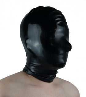 Rubber BDSM Deprivation Hood