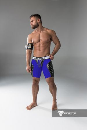 Maskulo Padded Shorts with Open Back