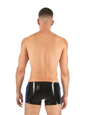 Mister B Rubber Trunks Black Blue
