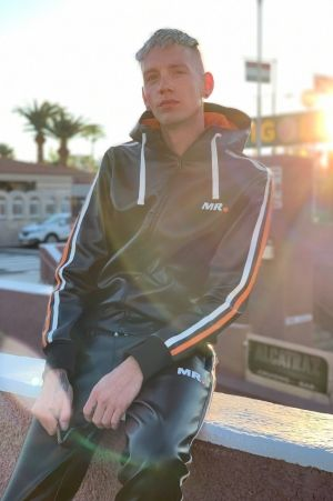 Mr Riegillio MR. Tracksuit Jacket with Orange Stripes