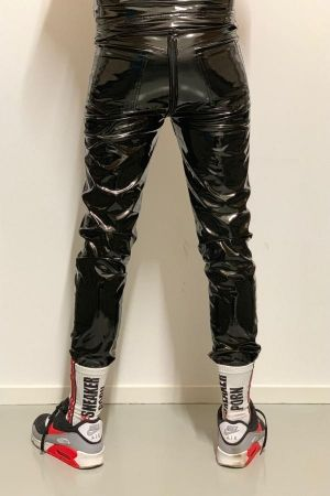 Mr Riegillio PVC Zip Through Trousers