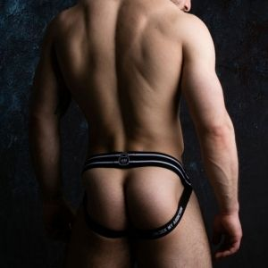 Locker Gear Zipper Jockstrap White