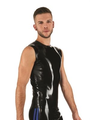Mister B Rubber Sleeveless T-Shirt Black