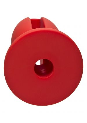 "Kink Lube Luge 6"" Lubricating Butt Plug Red"